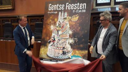 Taart op affiche voor 175 jaar Gentse Feesten