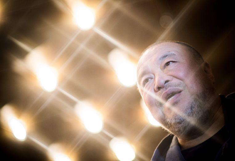 AI Weiwei begin deze maand bij een screening in Berlijn van zijn documentaire 'Human Flow'. Beeld AFP