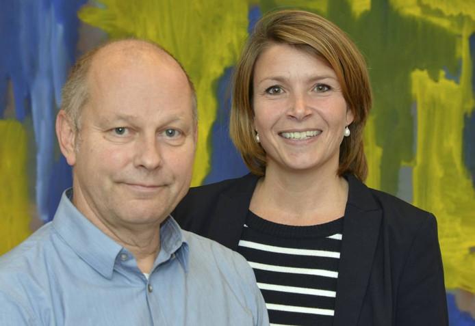 Directeur Ronald van der Vlies en teamleider Liesbeth van den Broek van De Lingeborgh. Foto: William Hoogteyling