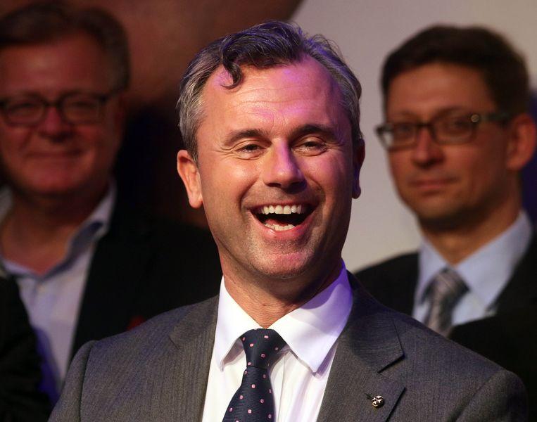 Verliezend kandidaat Norbert Hofer van de rechts-populistische FPÖ. Beeld AP