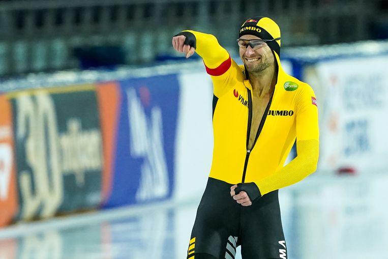 Thomas Krol  verzekerde zich van een ticket voor de WK afstanden, van deelname aan het EK sprint en twee wereldbekerwedstrijden. Beeld BSR Agency
