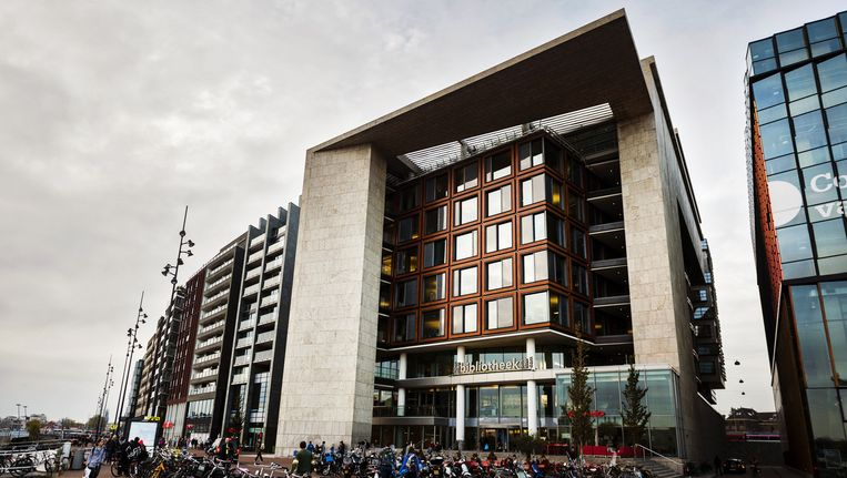 De centrale bibliotheek in het centrum Beeld ANP
