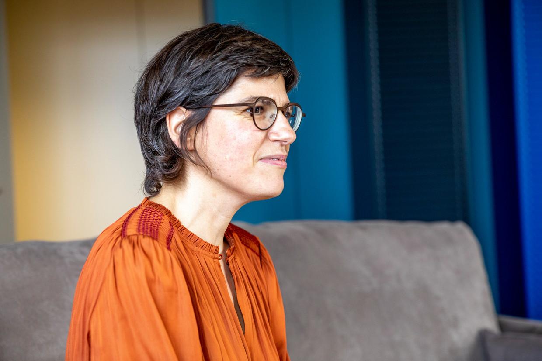 Tinne Van der Straeten (Groen), minister van Energie, vindt het energietransitiefonds te veel een vestzak-broekzakoperatie. Beeld BELGA