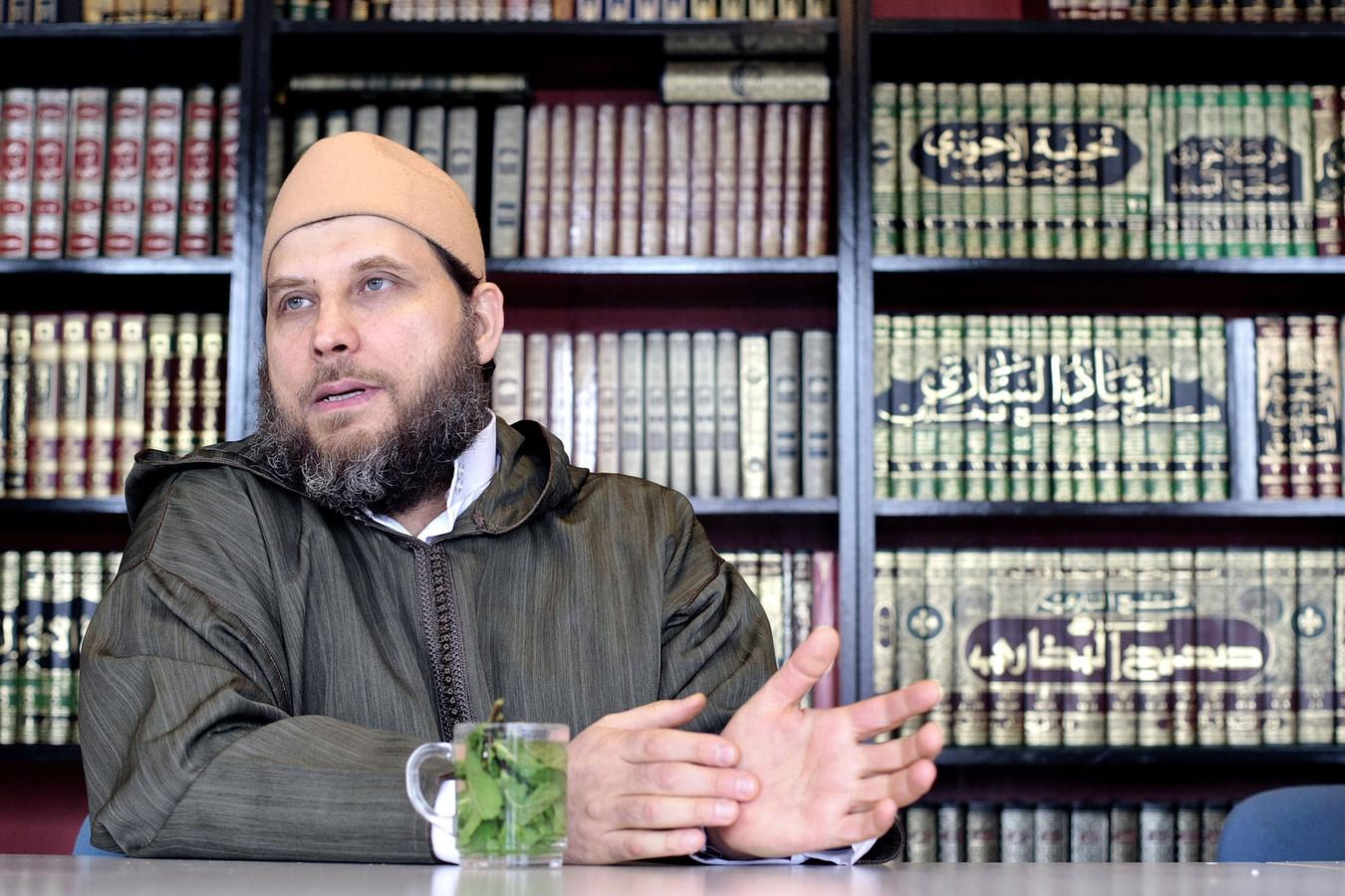de Syrische imam Sjeik Fawaz Jneid in 2008
