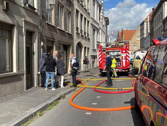 Brugge: brand Sint-Jorisstraat