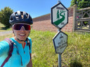 Aniek (34) fietste afgelopen zomer door Nederland, België en Noord-Frankrijk.