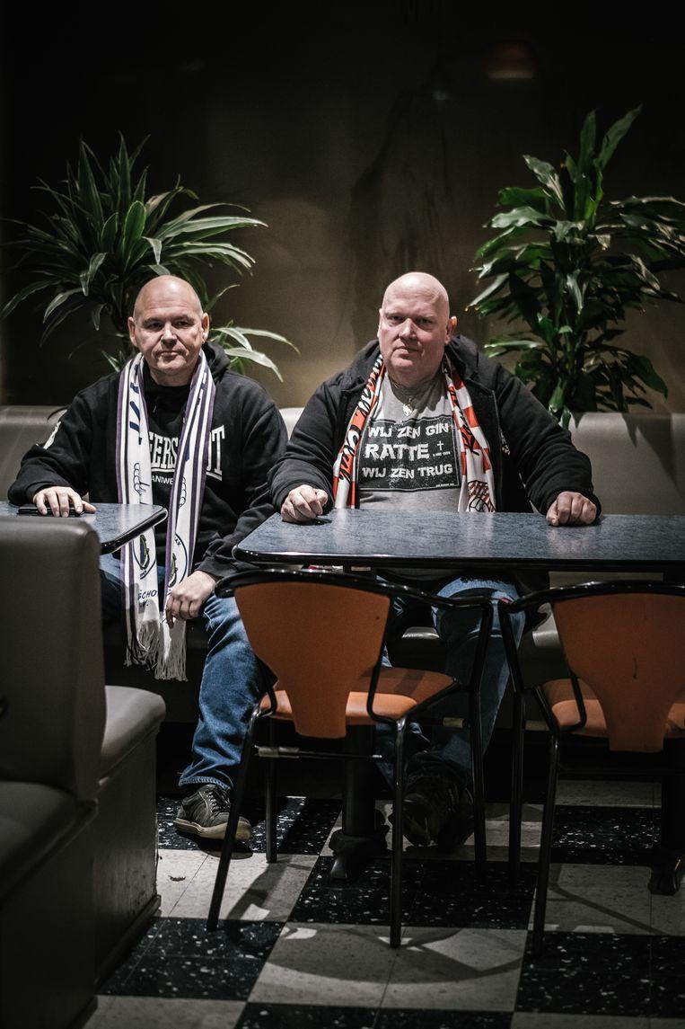 Samen in Antwerp-café Bisschoppenhof, het hol van de leeuw voor Marc.