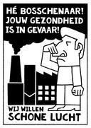 Affiche tegen asfaltcentrale in  Den Bosch.