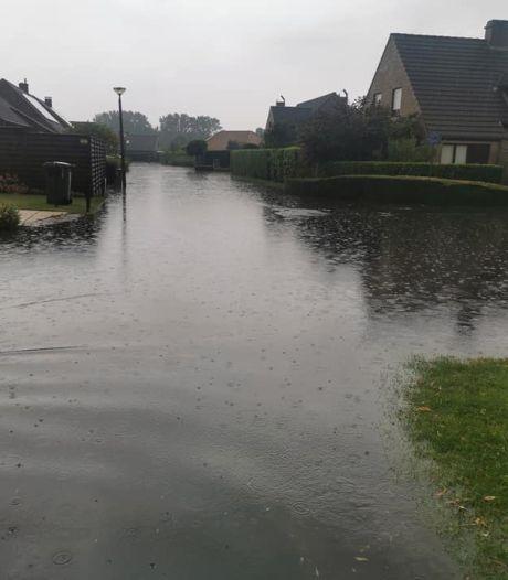 Inondations à Nieuport, des rues brièvement inondées à Knokke-Heist