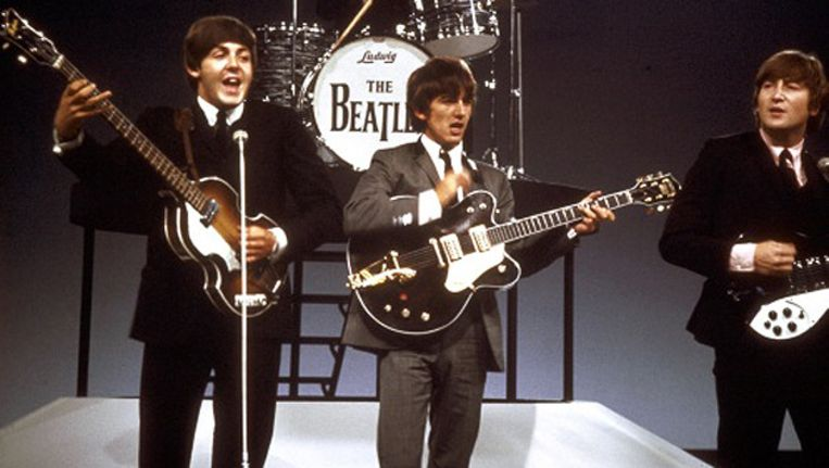 V.l.n.r. Paul McCartney, George Harrison en John Lennon. Beeld ANP/Kippa