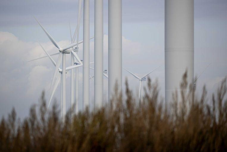 Windmolens op windpark Wieringermeer, de schrik van IJburg. Beeld ANP
