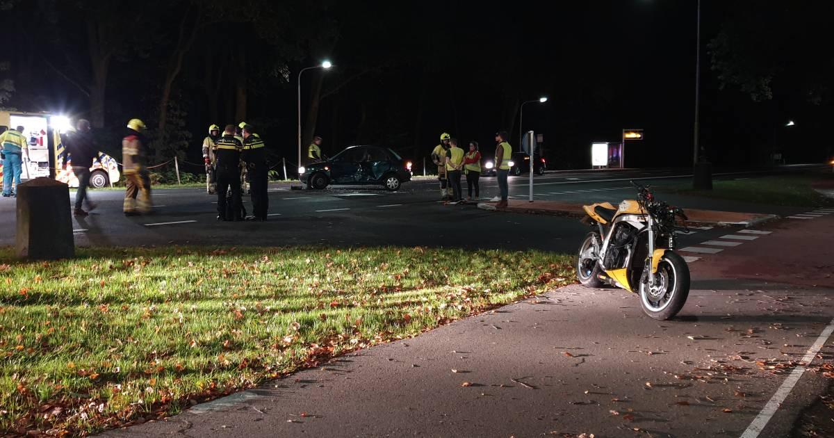 Motorrijder zwaargewond bij ongeluk op weg tussen Nijmegen en Groesbeek.