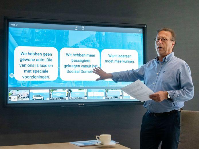 Wethouder Wouter Vogelsang tijdens de presentatie van de laatste cijfers.