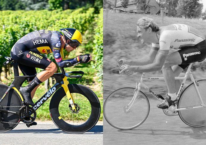Van Aert loste gisteren Vanderaerden af als laatste Belgische winnaar van een Tourtijdrit.