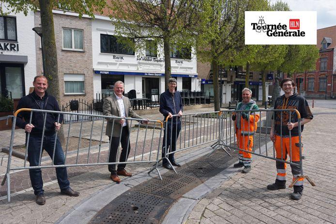 Het stadsbestuur van Oudenburg maakt zich op voor de heropening van de terrassen in de stad