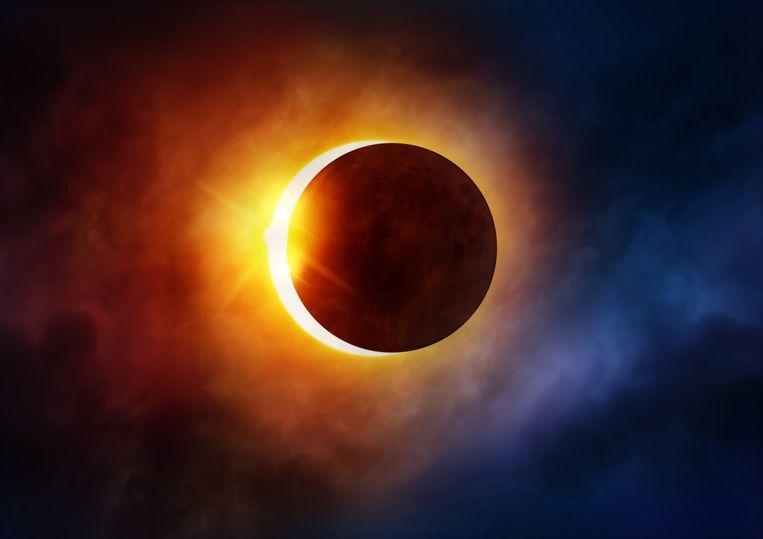 Dit is waar en wanneer je de gedeeltelijke zonsverduistering kunt zien Beeld Getty Images/iStockphoto