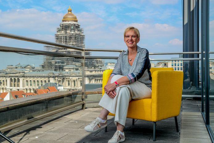 Minister van Pensioenen Karine Lalieux (PS).