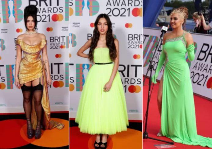 De nombreuses stars ont opté pour des tenues fluos pour assister à la 41e édition des Brit Awards.