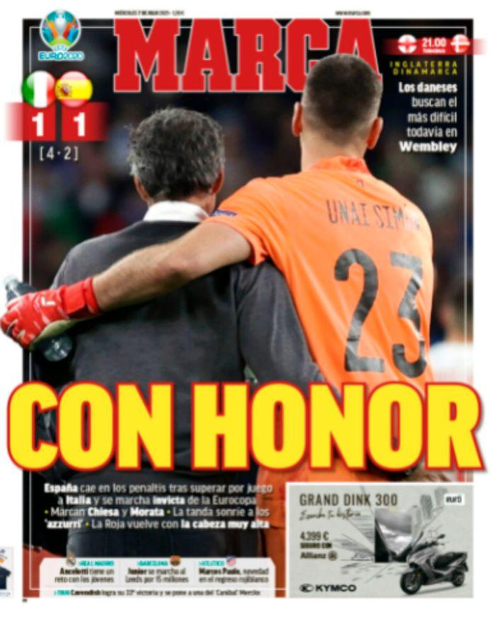 "Marca zag dat Spanje ""eervol"" onderuit ging."