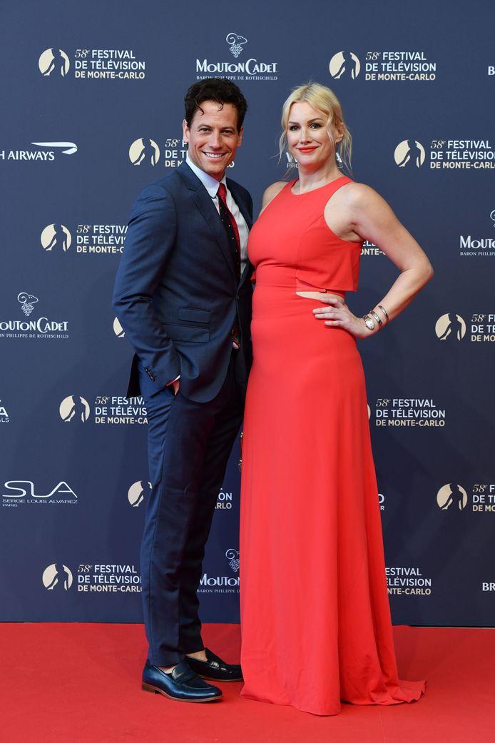 Ioan Gruffudd en Alice Evans in 2018