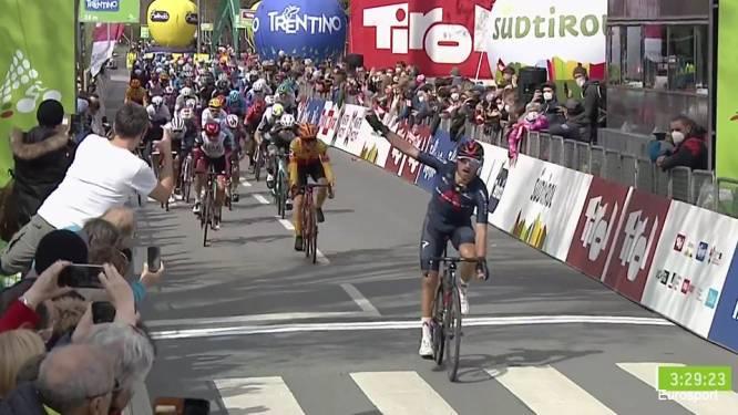 Moscon maakt het zegegebaar in openingsetappe Tour of the Alps