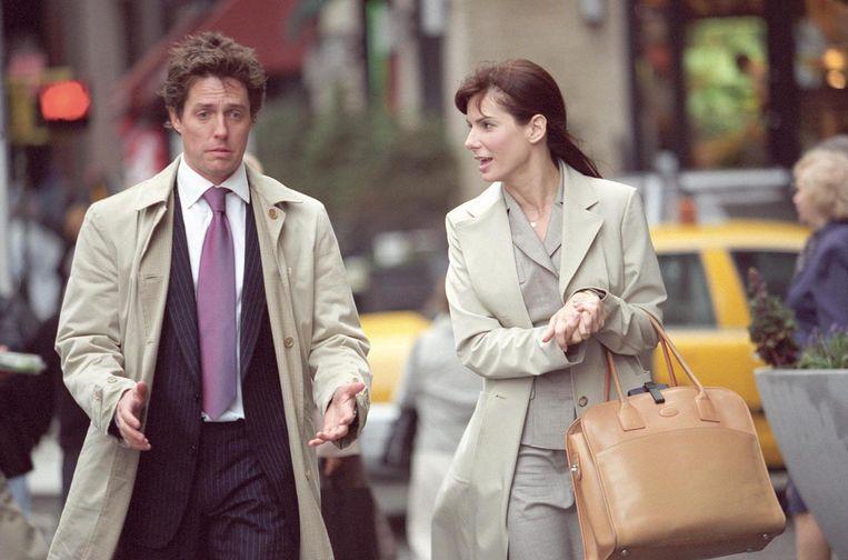 Hugh Grant en Sandra Bullock in Two Weeks Notice. Beeld