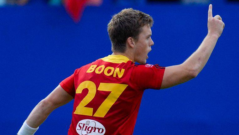 Tom Boon, in actie bij de Belgische nationale ploeg Beeld BELGA