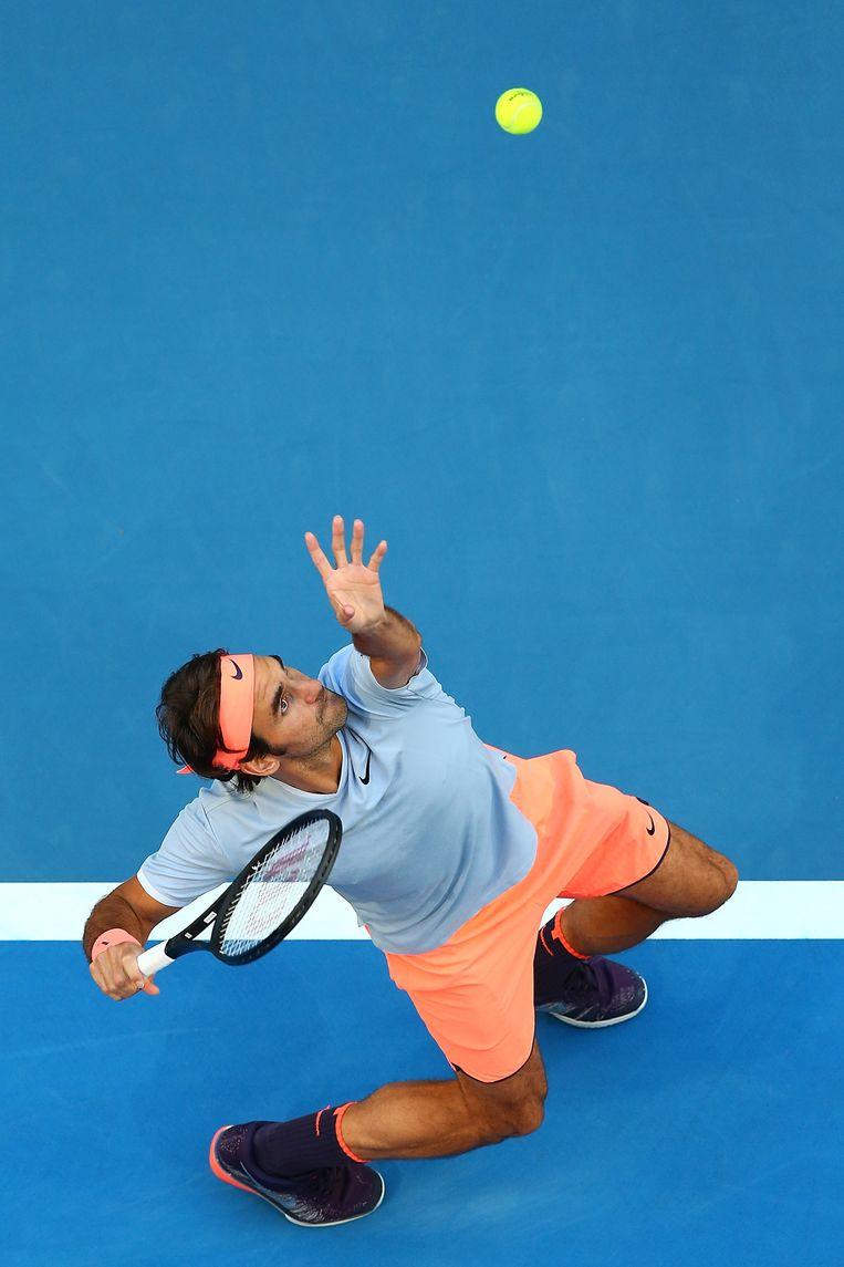 Roger Federer zet tegenover 'slechts' 7,5 miljoen euro prijzengeld 57,7 miljoen euro commerciële inkomsten. Beeld Getty Images