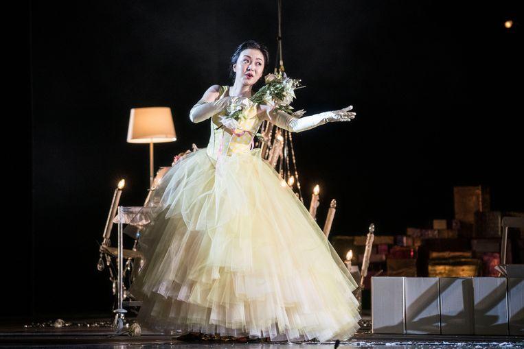 Sopraan Ying Fang (Susanna) is de ontdekking van de online 'Le nozze di Figaro' van De Nationale Opera. Beeld Marco Borggreve