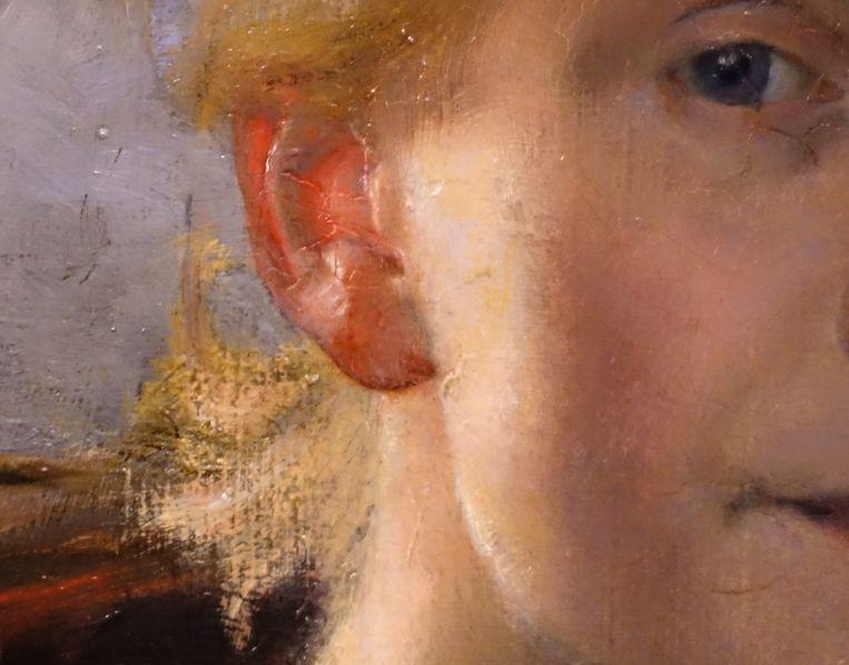De parallel tussen het verminkte kunstenaarsgezicht van Van Gogh en Carlson-Bredbergs verlichte oortje is prachtig. Beeld Museum Prins Eugens Waldemarsudde