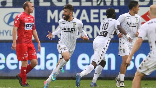 KV Kortrijk baalt, Charleroi redt punt na gelijkmaker van Gholizadeh in 95ste minuut