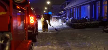 Sneeuw bemoeilijkt blussen schuurbrand in Gorssel