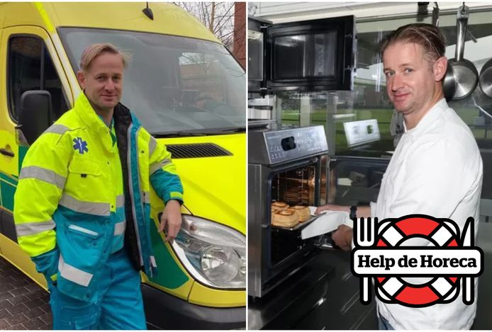 Nick Nuyts van Bistro Nian is ook al vijftien jaar ambulancier. Eigenlijk wilde hij ermee stoppen, maar toen brak corona uit.