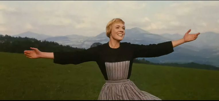 Julie Andrews in 'The sound of music' Beeld