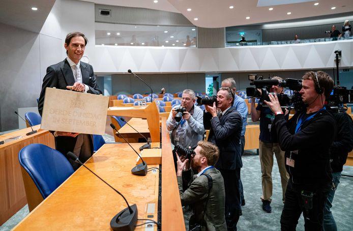 Demissionair minister Wopke Hoekstra van Financiën (CDA) tijdens Prinsjesdag.
