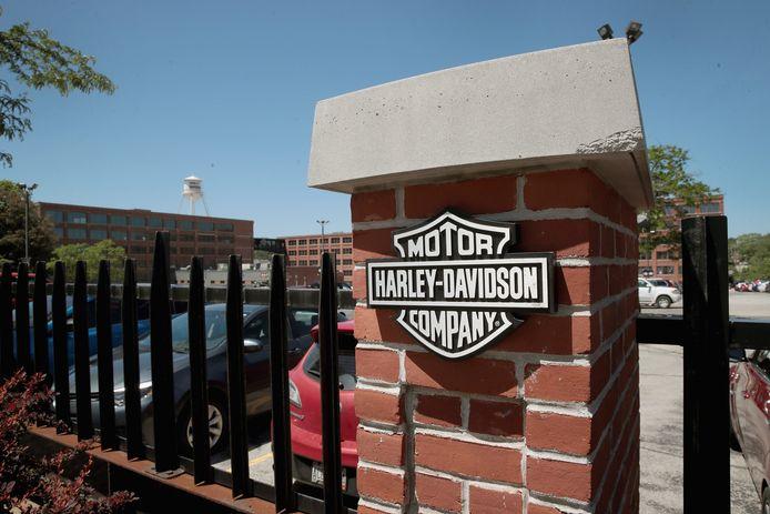 Het hoofdkantoor van Harley Davidson in Milwaukee (Wisconsin).