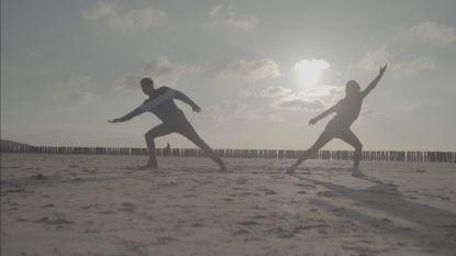 James en Björk oefenden hun moderne dans ook op een prachtige plek