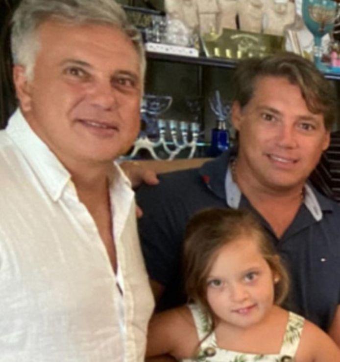 Andrés Galfrascoli, Fabián Nuñez en hun dochter Sophia.
