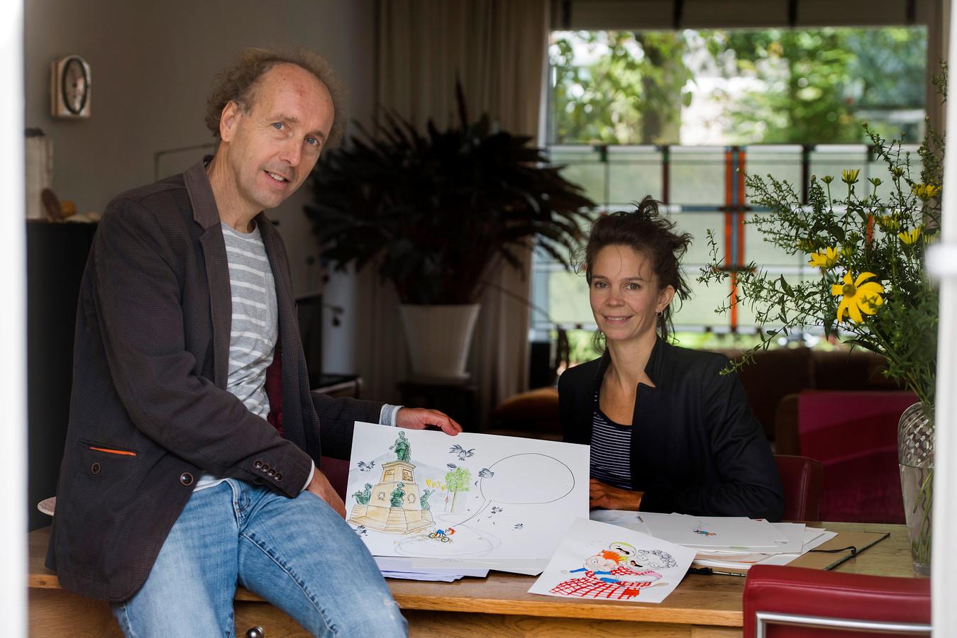 Schrijver Erik van Os en illustrator  Marieke Coenen