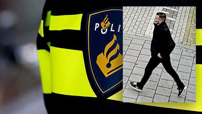 De man die even na het schietincident werd gezien op de Vredeman de Vriesstraat.