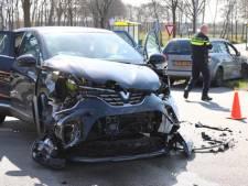 Auto's botsen door voorrangsfout