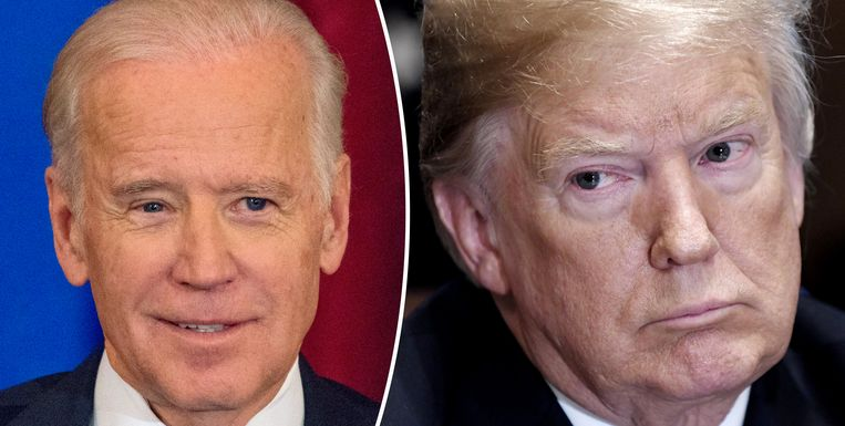 Joe Biden (links) en Donald Trump.