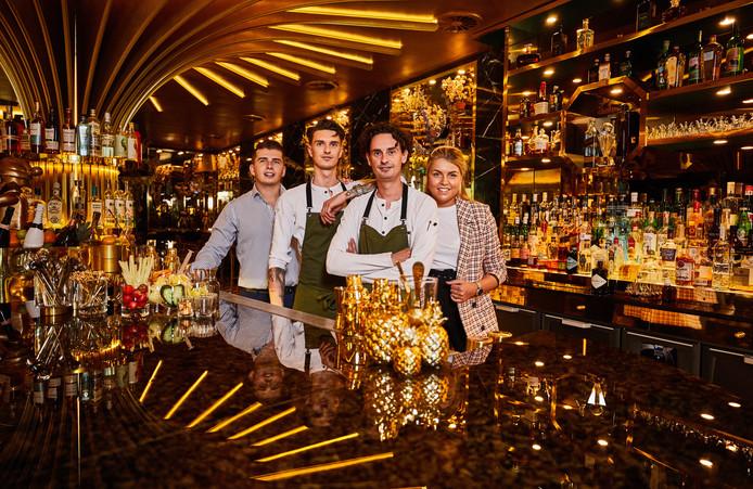 Robin van den Bergh, Ian de Kousemaeker, Nick de Kousemaeker en Denise van der Mijn.