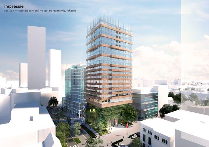 Woontoren De Nieuwe Eindhoven heeft een openbare stadstuin op de begane grond aan de Vestdijk-Raiffeisenstraat.