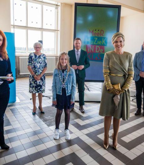 Koningin Máxima geeft Druten en West Maas en Waal pluim voor muziekonderwijs