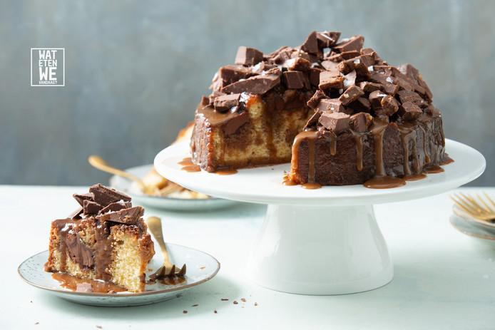 karamelzeezout taart