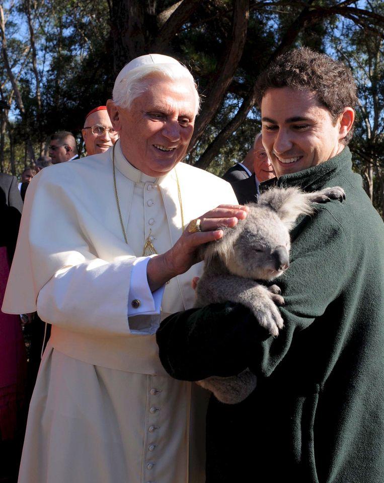 Paus Benedictus XVI in Sydney op 16 juli 2008. Beeld EPA