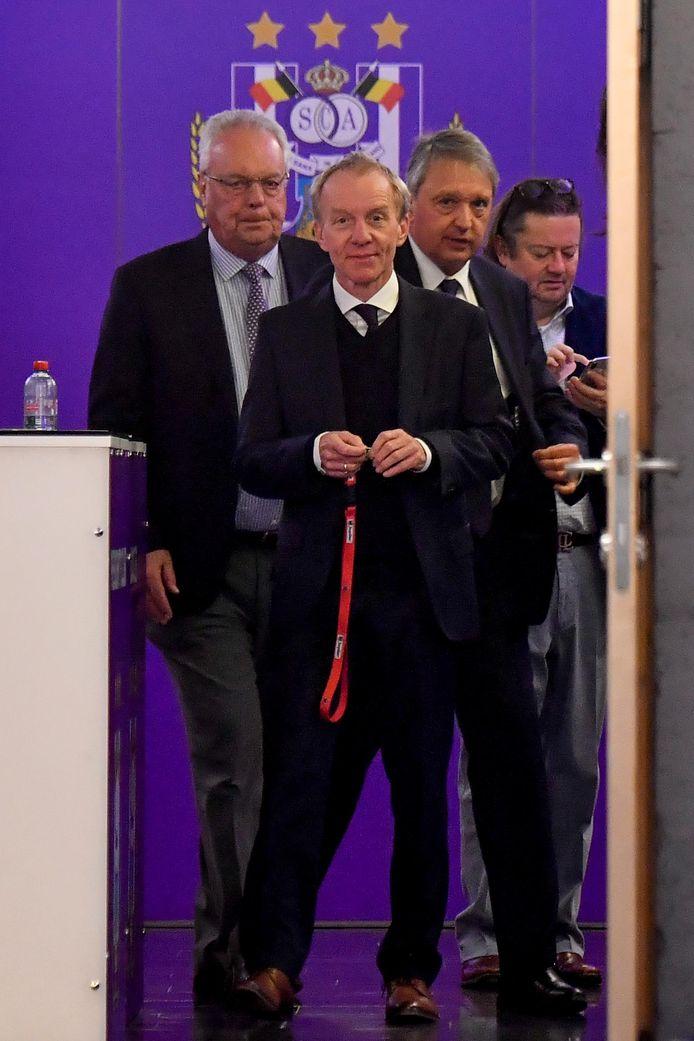 Roger Vanden Stock, Jo Van Biesbroeck, Herman Van Holsbeeck en Marc Coucke.