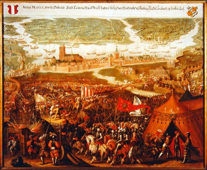 Het beleg van Dordrecht in 1418 is een van de 50 vensters in de Canon van Dordrecht.