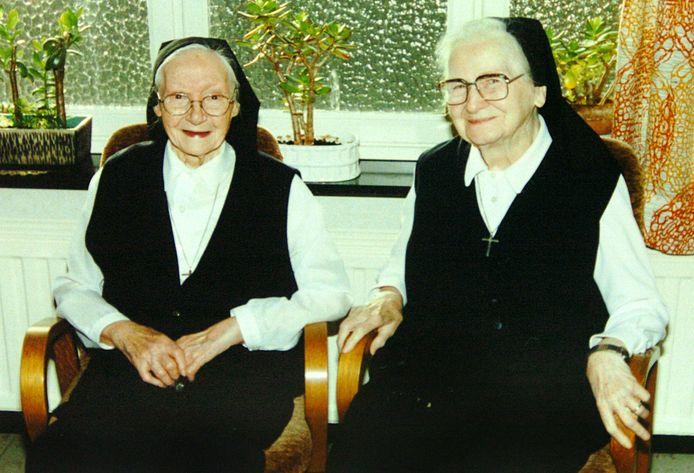 Zuster Thérèse en Zuster Jeanne-Elise uit Bocholt.